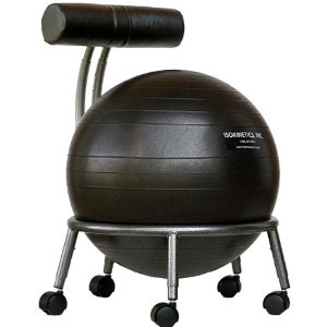 Isokinetics Fitness Ball Chair - with Black 52cm Ball and a Pump