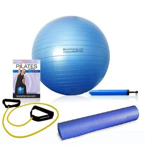 Bodytrends Complete Pilates Core Conditioning Solution Kit with Ball, DVD, Fitness tube, Pump and Mat