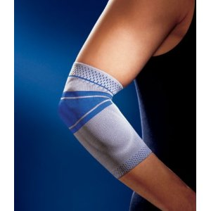 BAUERFEIND EPI TRAIN ELBOW SUPPORT TITANIUM SIZE 3