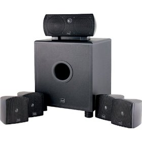 Dual LHT1000B 6-Piece Home Theater Speaker System, Black