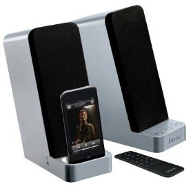 IHome IH70SRC Computer Stereo Speaker System with Dock for iPod (Silver)