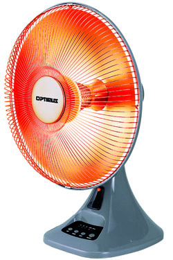 Optimus lvh4200s dish heater 14inch oscillating with timer