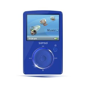 SanDisk Sansa Fuze 4 GB Video MP3 Player (Blue)