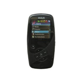 RCA M4008 Opal 8GB Flash MP3 / MP4 (Video) Player with 1.5 inch Full Color OLED Display, Voice Recording and Built-in Microphone (Color: BLACK)