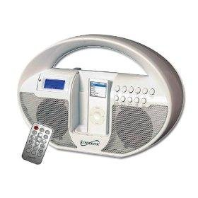 Supersonic SC-1109 Portable MP3 Speaker with Docking Station, Alarm Clock, AM/FM Radio & Auxiliary Jack