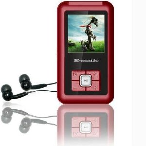 Ematic 2GB Color MP3 Video Player with 1.5-Inch screen, FM Radio and Voice Recording (Red)