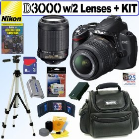 Nikon D3000 10MP Digital SLR Camera with 18-55mm f/3.5-5.6G AF-S DX