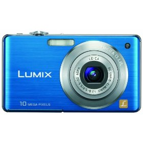 Panasonic Lumix DMC-FS7 10MP Digital Camera with 4x MEGA Optical Image Stabilized Zoom and 2.7 inch LCD (Blue)