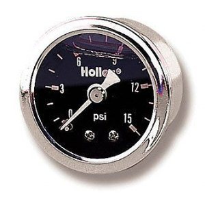Holley 26-505 Mechanical Liquid-Filled Pressure Gauge