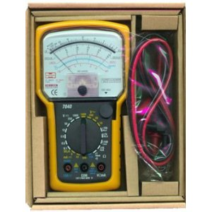 Analog Multimeter, 20-range AC/ DC general purpose, fused, M7040