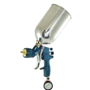 HVLP FLG SPRAYGUN 1.3MM Fluid Tip WITH REGULATOR AND 1 LITER ALUMINUM CUP