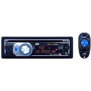 JVC KD-HDR60 USB/CD Receiver w/ Built-In HD Radio Tuner and iTunes Tagging, USB 2.0 for iPod/iPhone, and Bluetooth/Satellite Radio add-on capability