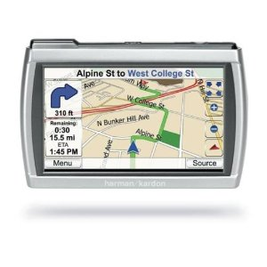 Harman Kardon GPS-300 4-Inch Portable GPS Navigator and MP3 Player