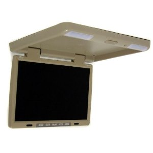 Brand NEW Tview T156ir-beige 15.4 Inch Thin Tft Flip Down Ceiling-mount Car Monitor with Twin Dome Lights, and Built in Ir Transmitter and Amazing Resolution and the Best Features **1024x760 Resolution**
