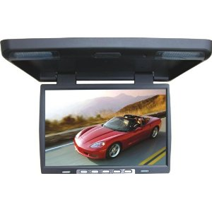 Brand NEW Tview T156ir-black 15.4 Inch Thin Tft Flip Down Ceiling-mount Car Monitor with Twin Dome Lights, and Built in Ir Transmitter and Amazing Resolution and the Best Features **1024x760 Resolution**
