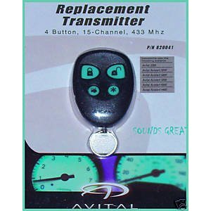 Avital 820041 4 Button Replacement Remote Control Transmitter