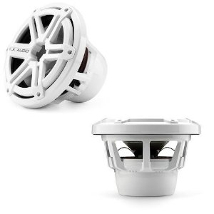 JL AUDIO M10IB5-SG-WH 10-inch Marine Subwoofer, Sport Grille, White