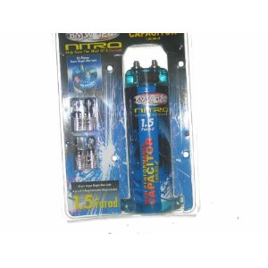 1.5 FARAD DIGITAL CAR CAPACITOR W/ CONNECTOR RINGS