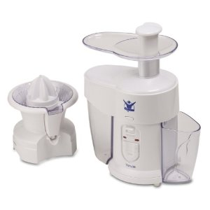 Biggest Loser AJ-1400-BL 2-in-1 Double-Up 2-Speed Fruit-and-Vegetable Processor and Juicer