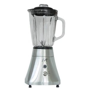Sunpentown CL-511 Square-Base Stainless-Steel Blender with 1-1/2-Liter Glass Jar