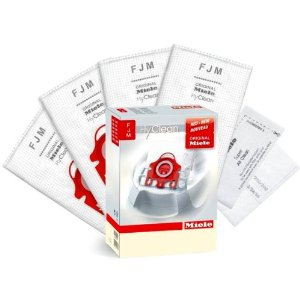Miele Style FJM HyClean Vacuum Cleaner Bags: 4 Bags + 1 Super Air Clean Filter + 1 PreMotor Filter!!!!