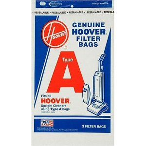 Hoover 4010001A Type-A Vacuum Cleaner Bags, 3-Pack