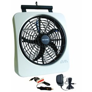 O2Cool 1038 Smart Power Rechargeable Swivel Fan