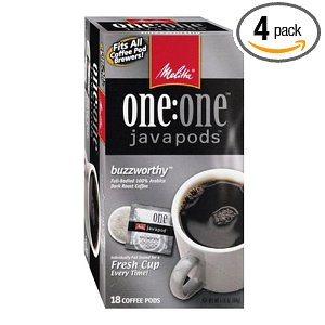 Melitta One:One Java Pods, Buzzworthy, Dark Roast Coffee, 18-Count Pods (Pack of 4)