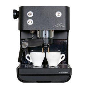 Saeco Via Venezia Traditional Pump Driven Espresso Machine, Black