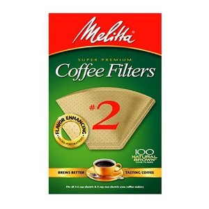Melitta Natural Brown Coffee Filter, #2 - 100 Count