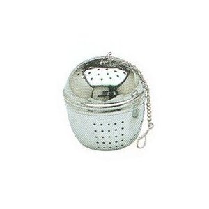 Giant Hanging Chrome Tea and Herb Ball Infuser - 2.5 x 2 Inches