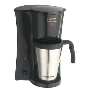 Applica/Black & Decker DCM18S Black & Decker Brew N' Go Personal Coffeemaker With Travel Mug