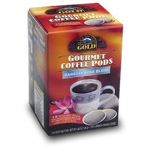 Black Mountain Gold Gourmet Coffee Pods - Hawaiian Kona Blend - 14 Ct.