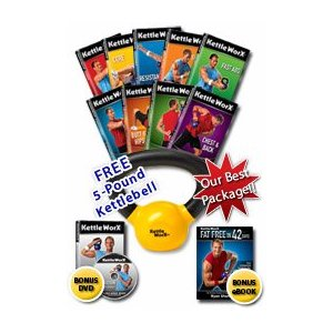 KettleWorx Ultra 5 - Complete Kettlebell Fitness Program ... Includes 5lb Kettlebell