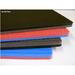 96 Sq. Ft. Martial Arts Reversible Black Gray (3/4 Inch Thick, 24 Tiles, Double Sided + Borders) 'We Sell Mats' Anti-fatige Interlocking EVA Foam Flooring-each Tile 2' x 2' x 3/4