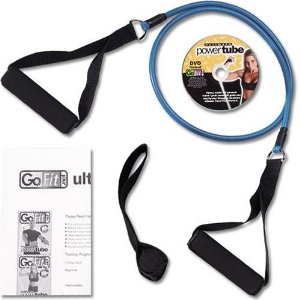GoFit Ultimate 4-Foot Medium Resistance Ultimate Power Tube with Core Performance DVD (Blue / 10-Pound)
