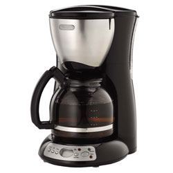 Delonghi dc36tb black coffee maker 12cup digital