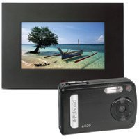 Polaroid a520 - Digital camera - compact - 5.1 Mpix - supported memory: MMC, SD - with Polaroid IDF-0720 7