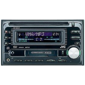 JVC KW-XC410 Double DIN In-Dash CD/Cassette Receiver with J-Bus Expandable (Black)