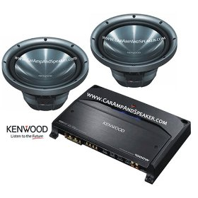 2 KENWOOD KFC-W3011 & KENWOOD KAC-7204 PACKAGE DEAL