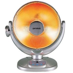 Optimus h4438 heater 14inch dish oscillating remote control