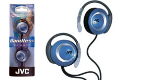 Jvc hae53a blue headphone earclip soft