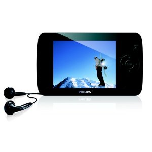 Philips SA61 8 GB Flash Video MP3 Player with FM Radio and 3.5-Inch Color Screen (Black)