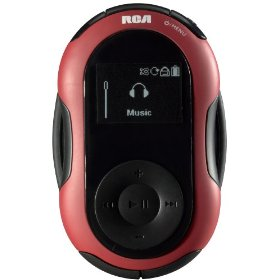 RCA S2102 2 GB Digital Media Player/FM Radio with Sports Features (Red)