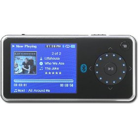 Insignia Pilot with Bluetooth NS-4V24 - Digital player / radio - flash 4 GB - WMA, Ogg, MP3, WMAPro, protected WMA (DRM 10) - video playback - display: 2.4