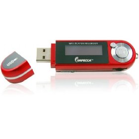 Impecca MP1202FR 2GB MP3 Player with FM Tuner Red