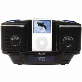 Atlantis Multi Media System & Video Output For iPod with USB, SD/MMC Card Reader, Alarm Clock, FM Radio
