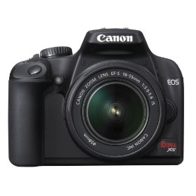 Canon Rebel XS 10.1MP Digital SLR Camera with EF-S 18-55mm f/3.5-5.6 IS Lens (Black)