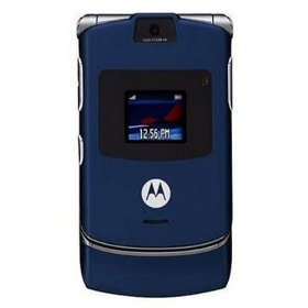 Motorola RAZR V3 Unlocked Phone with Camera, and Video Player--International Version with No Warranty (Cosmic Blue)