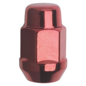 Gorilla Automotive 41137RD Acorn Bulge Seat Red Lug Nuts (12mm x 1.50